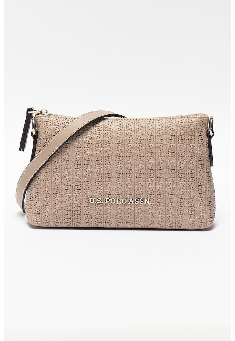 Geanta crossbody de piele ecologica - cu logo imagine fashiondays.ro 2021