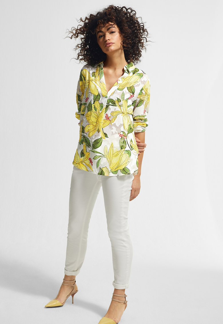 Bluza cu imprimeu floral Pointy imagine fashiondays.ro comma,,