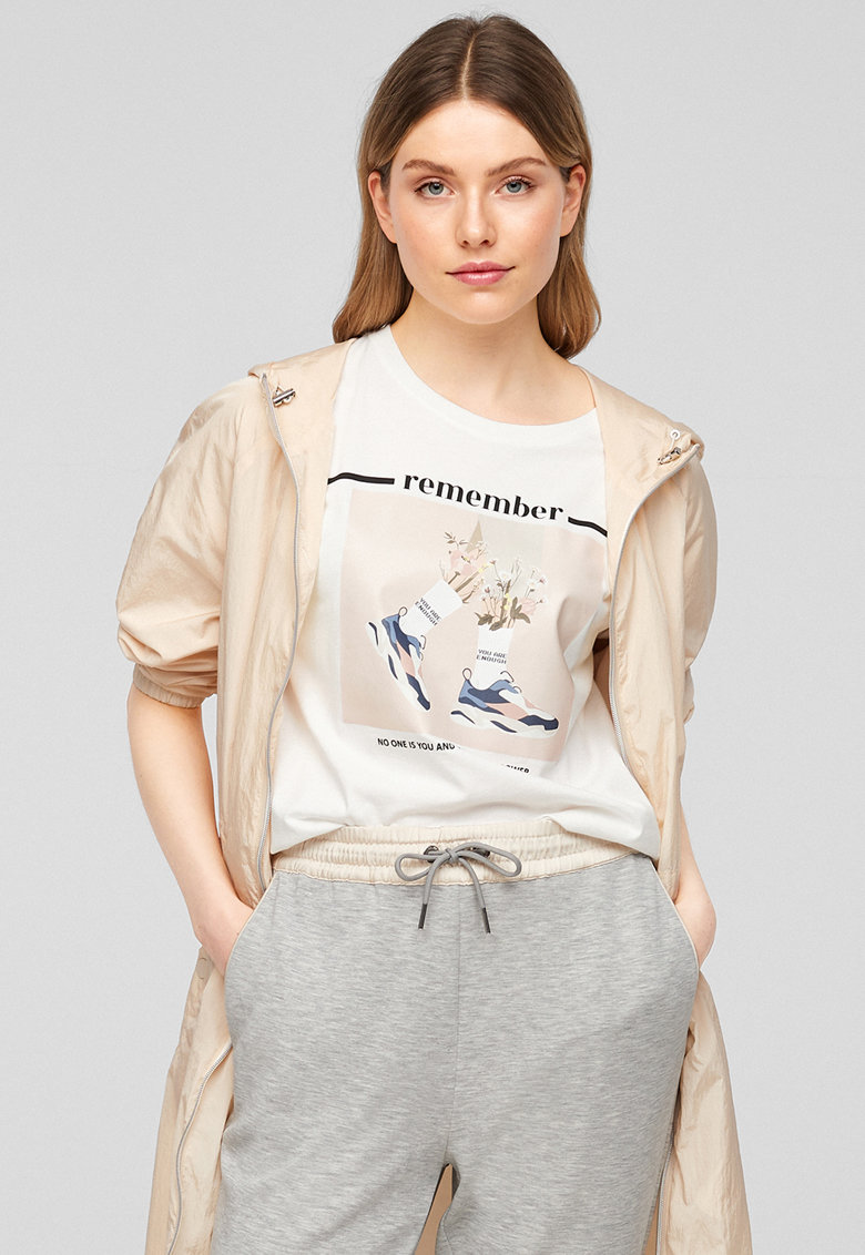 Tricou de bumbac cu imprimeu s.Oliver fashiondays.ro