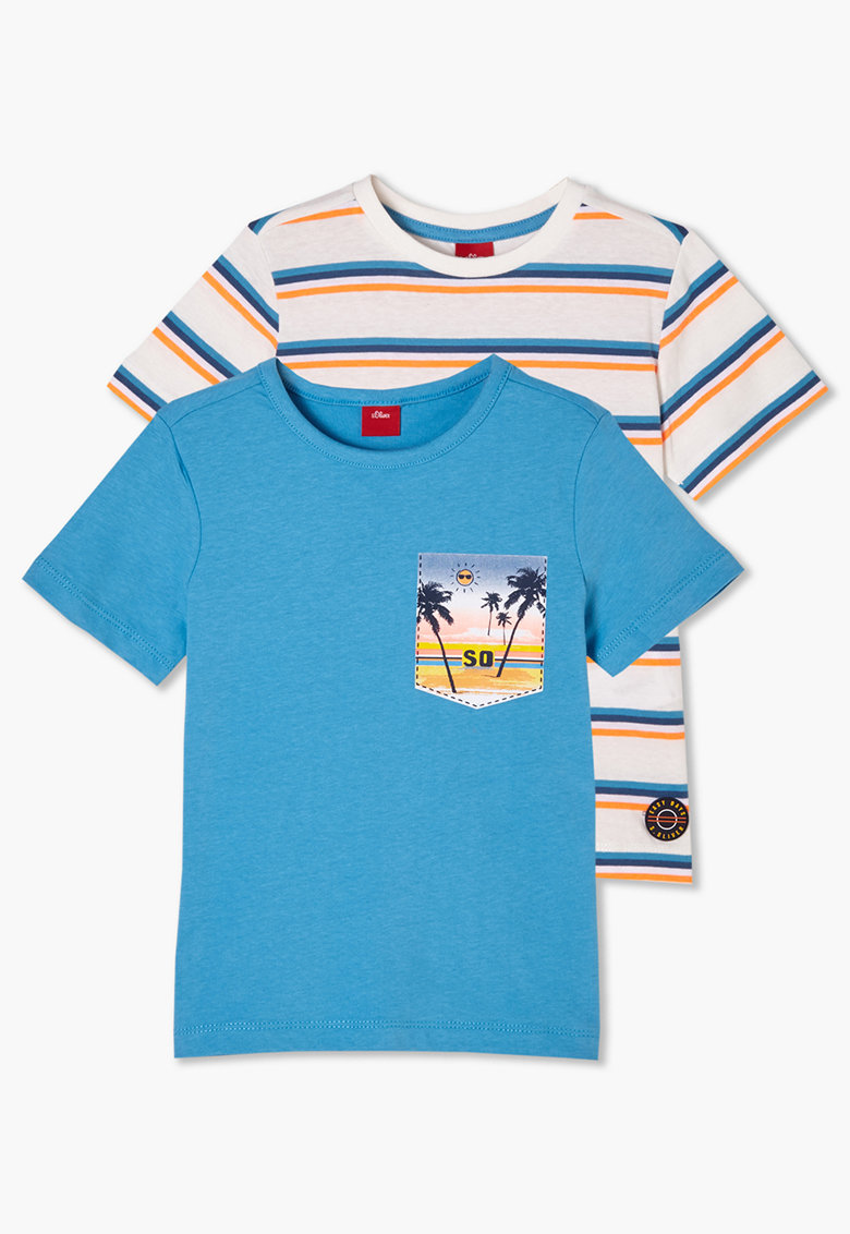 Set de tricouri cu imprimeu - 2 piese s.Oliver fashiondays.ro