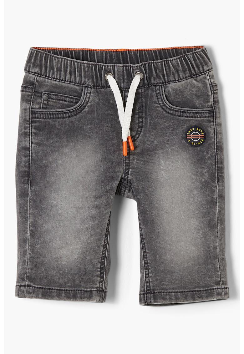 Pantaloni scurti din denim cu snur de ajustare s.Oliver fashiondays.ro