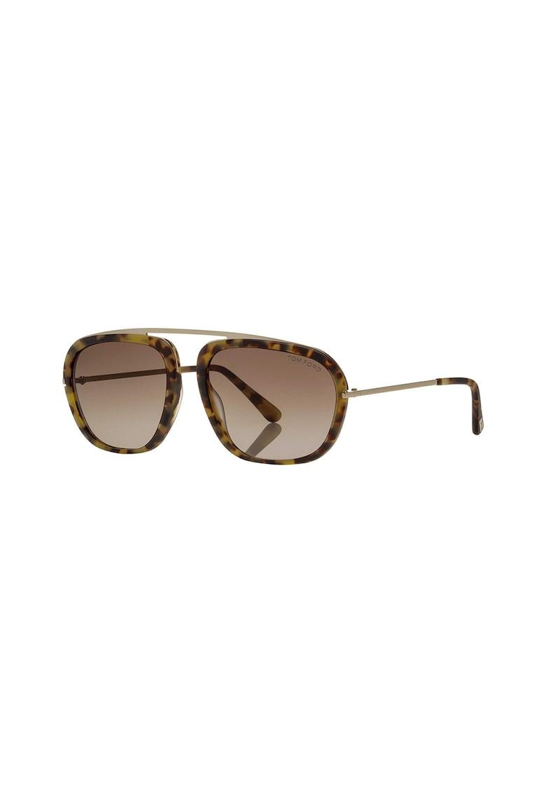 Ochelari de soare pilot cu rama tortoise de la Tom Ford