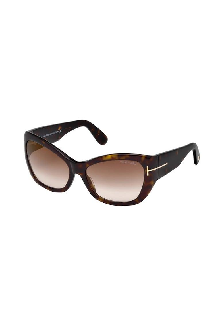 Ochelari de soare cat-eye cu rama tortoise de la Tom Ford