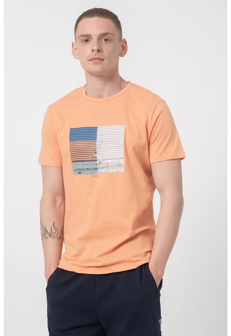 Tricou regular fit Halfo imagine fashiondays.ro 2021