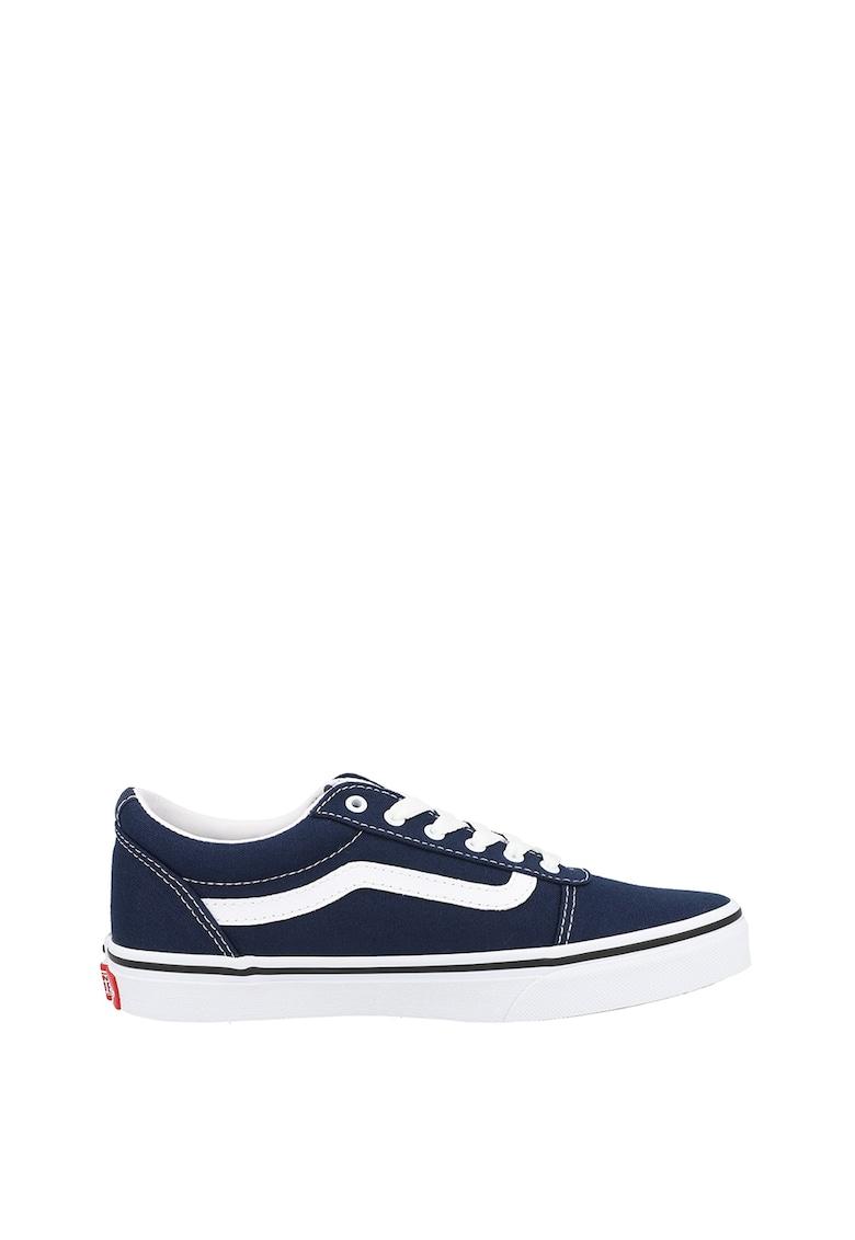 Pantofi sport cu insertii din piele YT Ward imagine fashiondays.ro Vans