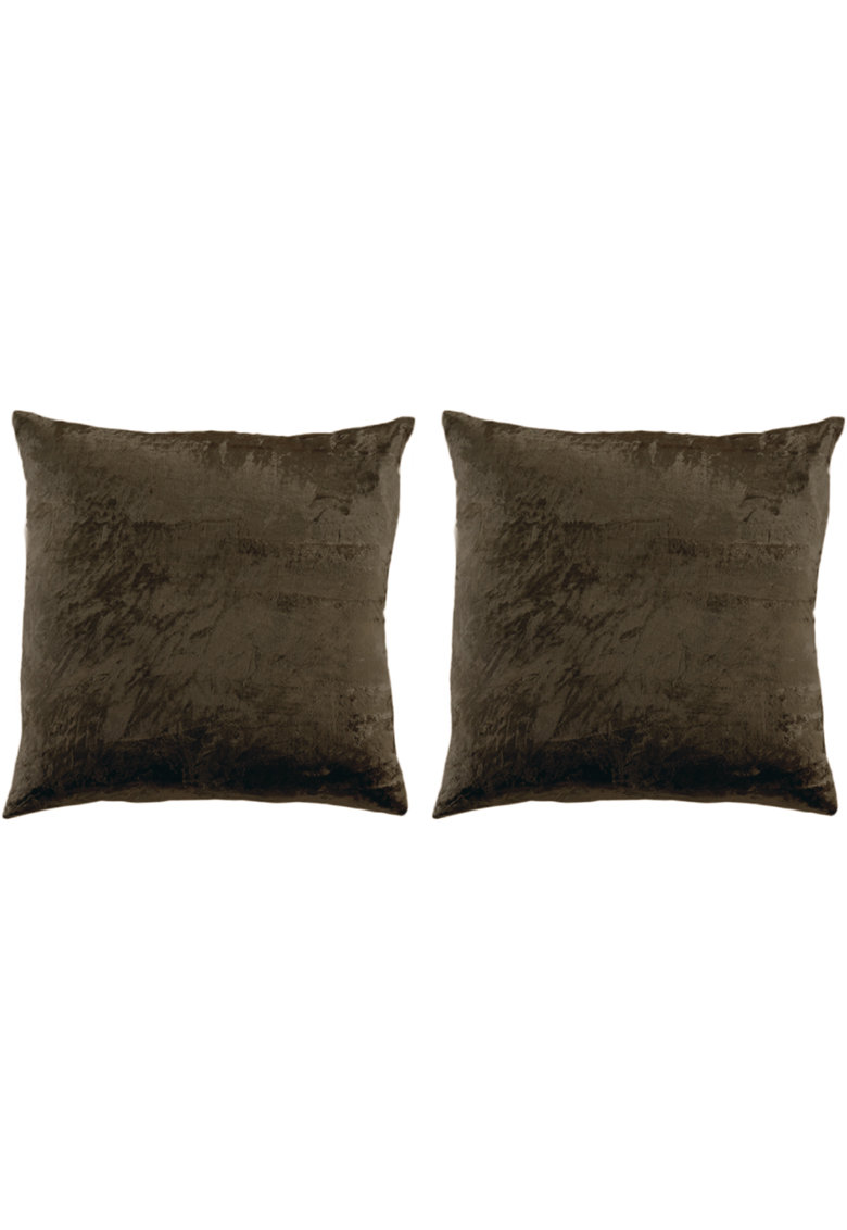 Set 2 huse pentru pernute decorative Velvet 45x45 cm - inchidere cu fermoar - poliester image0