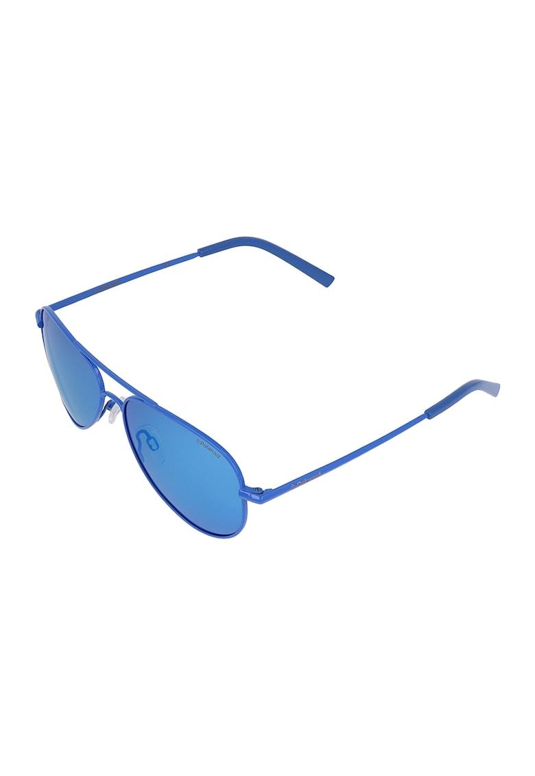 Ochelari de soare aviator polarizati cu rama metalica Polaroid fashiondays.ro