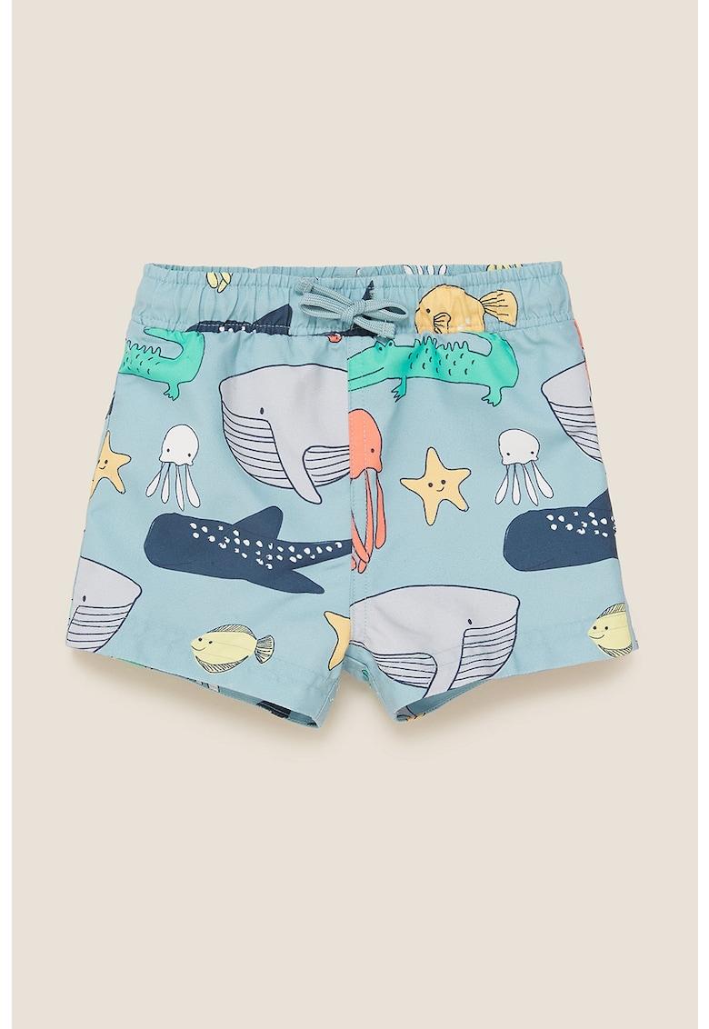Pantaloni scurti de baie cu snur de ajustare in talie imagine fashiondays.ro