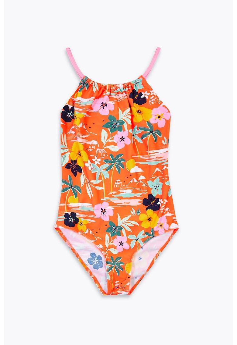 Costum de baie intreg cu imprimeu tropical imagine fashiondays.ro
