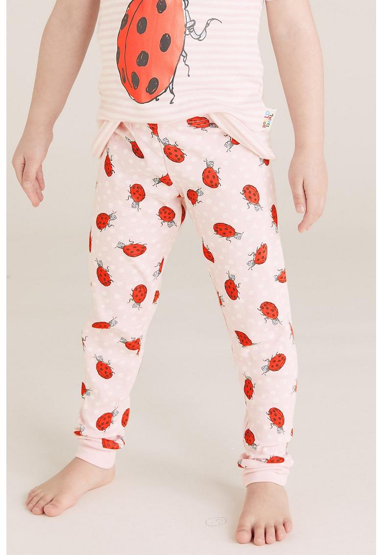 Pantaloni de pijama cu model cu buburuze imagine fashiondays.ro 2021