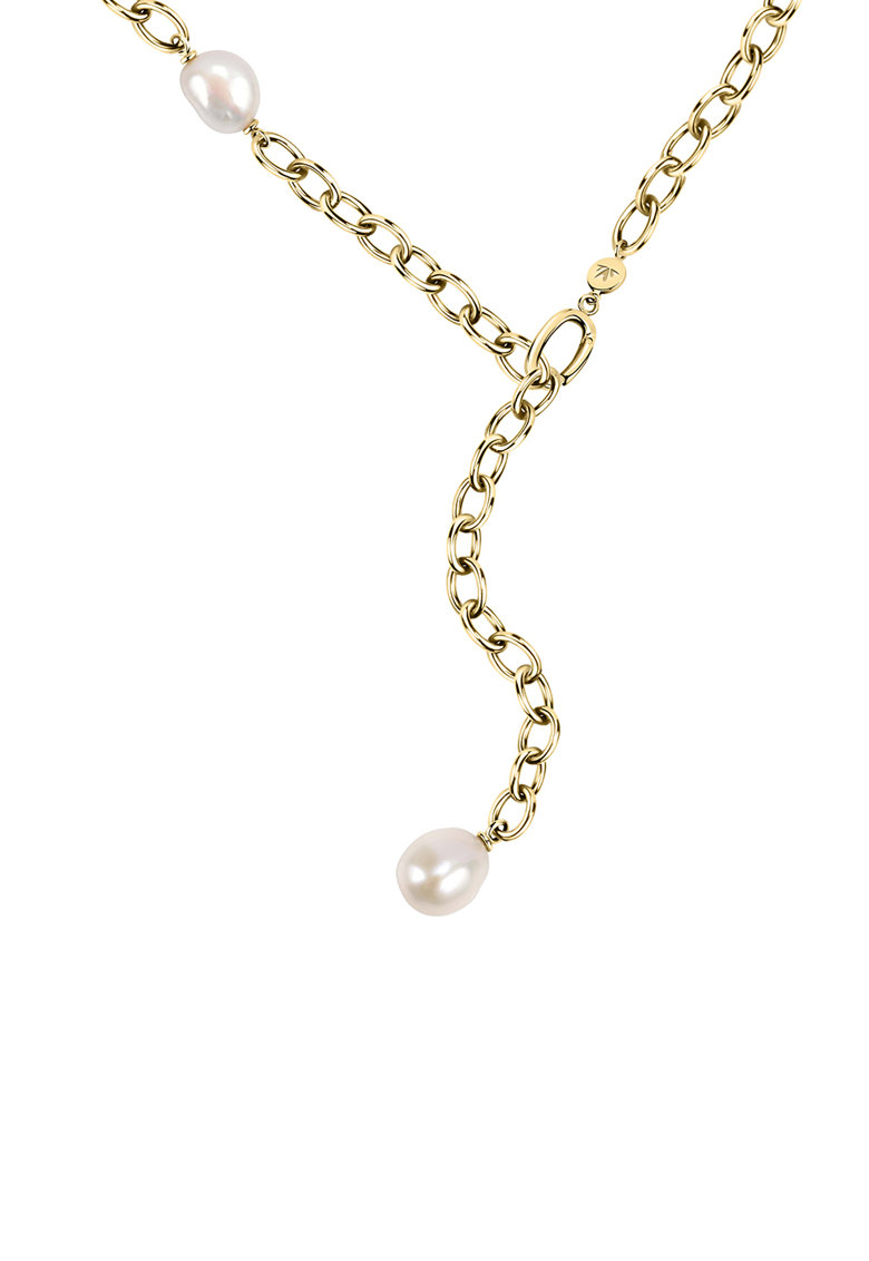 Colier de lant cu perle de cultura fashiondays.ro