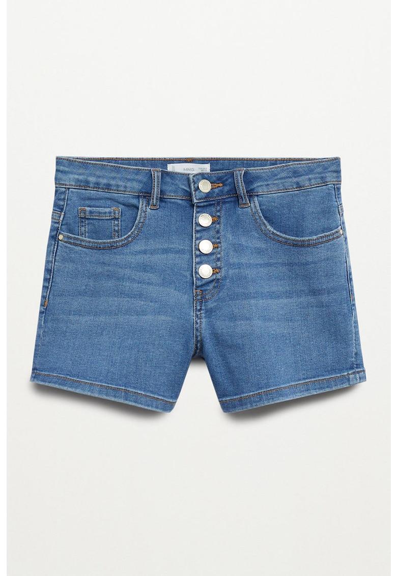 Pantaloni scurti de denim cu croiala dreapta Rose imagine fashiondays.ro 2021