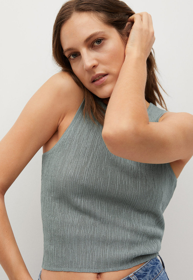 Top tricotat fin Adagio imagine fashiondays.ro Mango