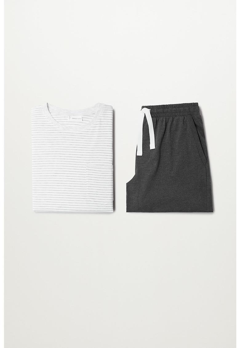 Pijama scurta din bumbac organic James imagine fashiondays.ro 2021