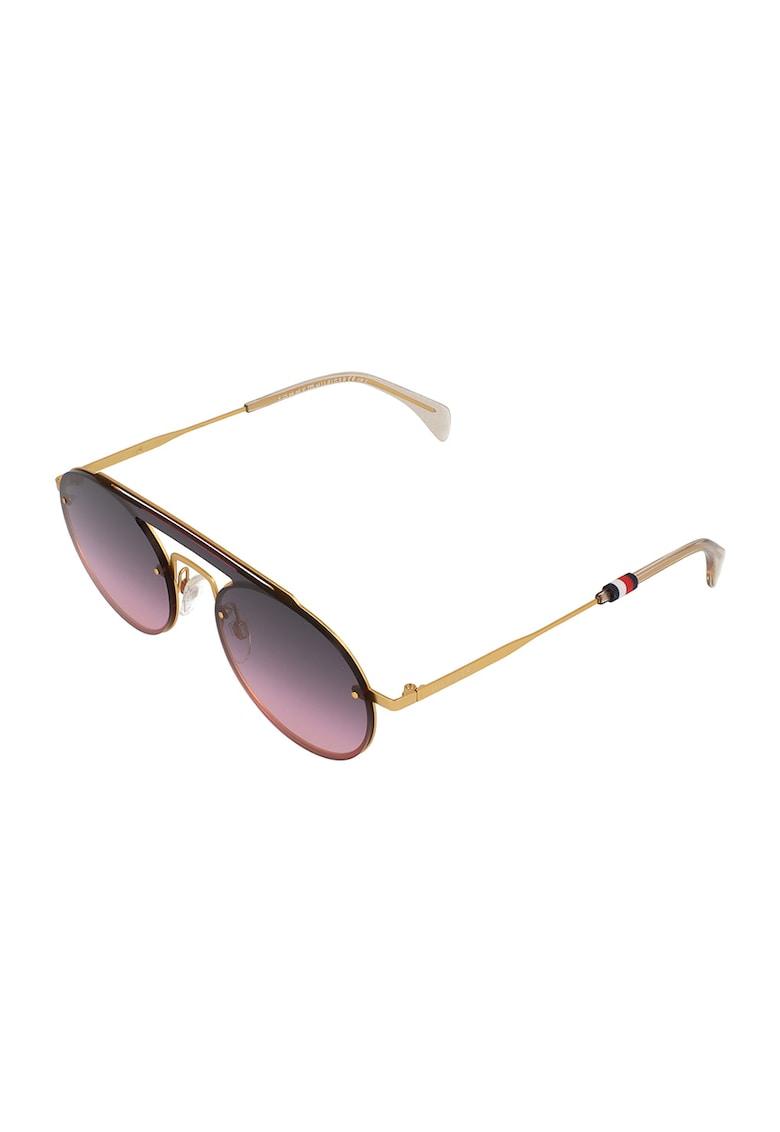 Ochelari de soare rotunzi cu rama metalica imagine fashiondays.ro Tommy Hilfiger