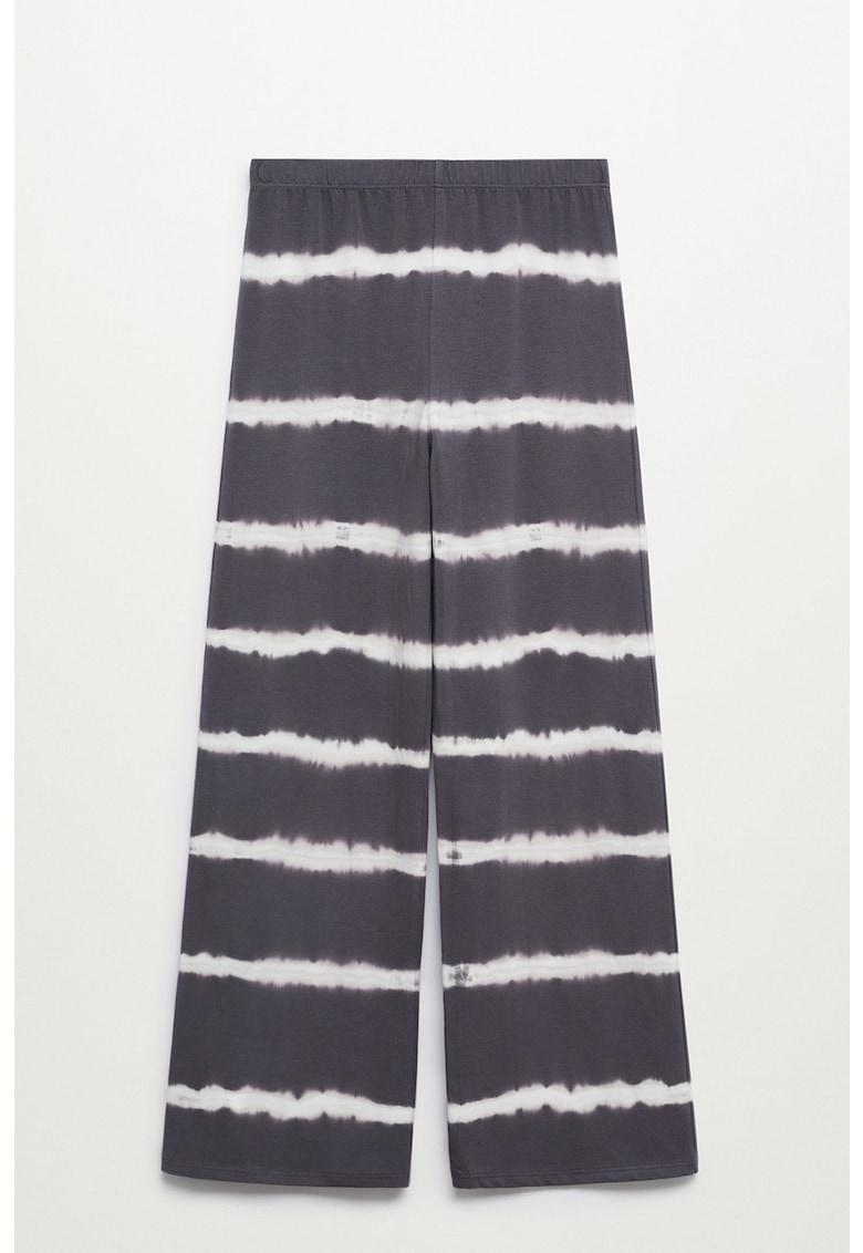 Pantaloni tie-dye cu talie inalta Nela imagine fashiondays.ro