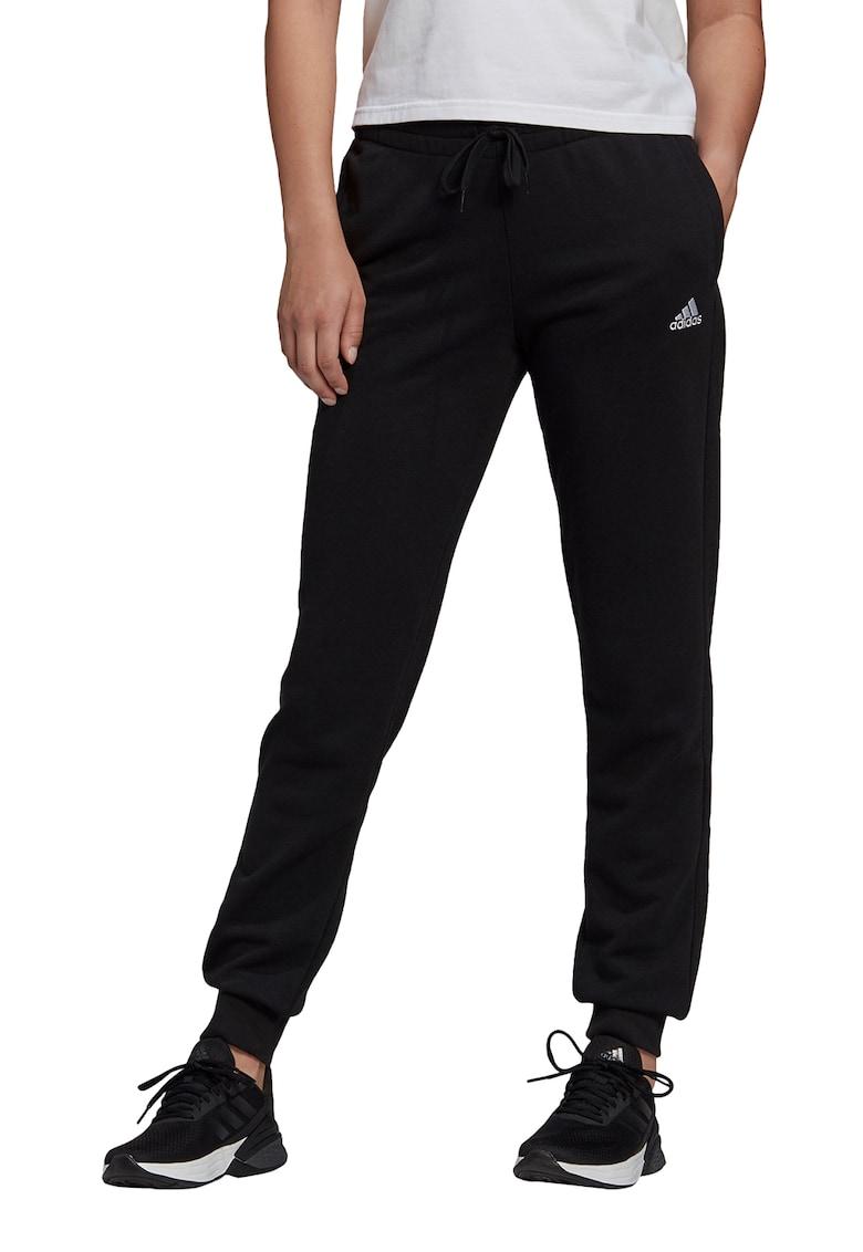Pantaloni sport slim fit cu snur in talie Essentials de la adidas Performance