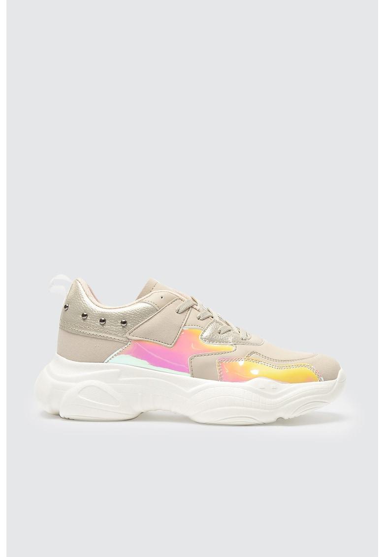 Pantofi sport de piele ecologica cu insertii de piele intoarsa sintetica imagine fashiondays.ro 2021