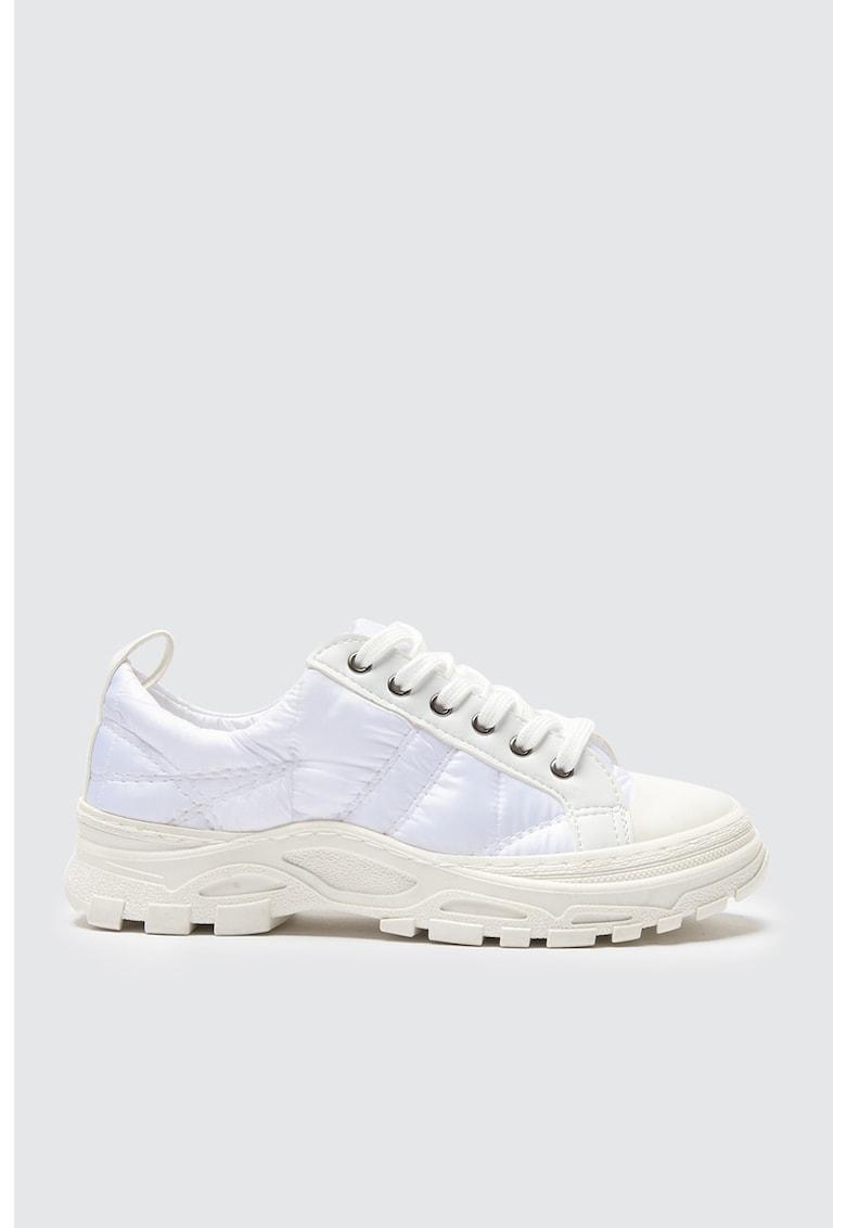 Pantofi sport de piele ecologica cu insertii de material textil imagine fashiondays.ro 2021