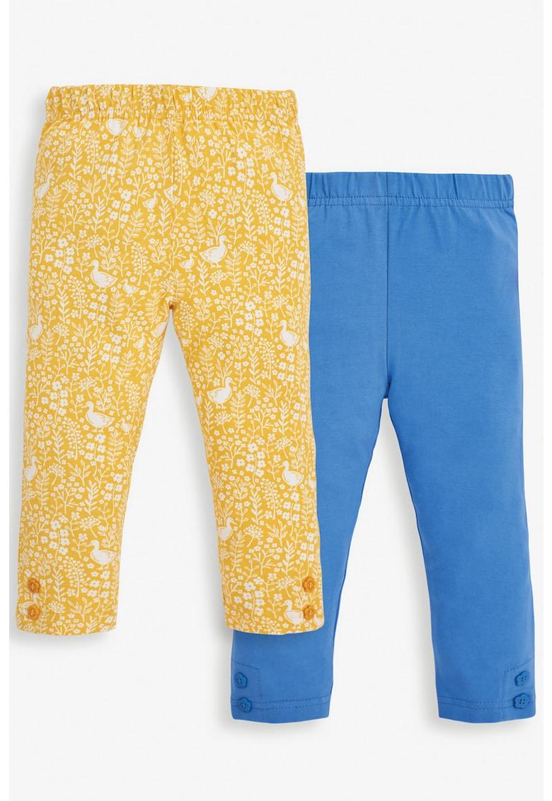 JoJo Maman Bebe Set de pantaloni din amestec de bumbac cu imprimeu - 2 perechi