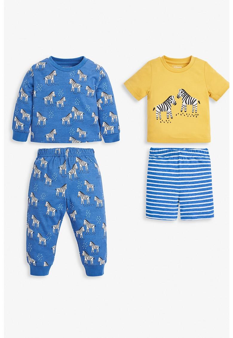 JoJo Maman Bebe Set de pijamale cu imprimeu - 4 piese
