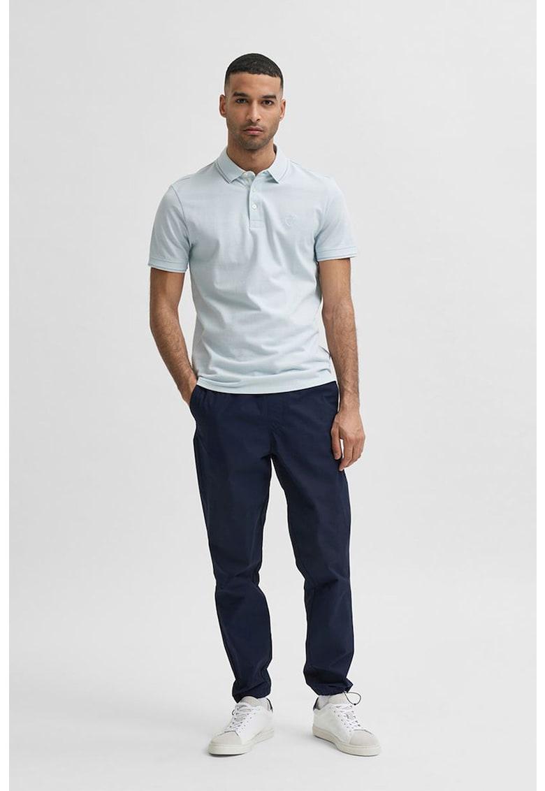 Tricou polo cu aspect pique Twisted imagine fashiondays.ro
