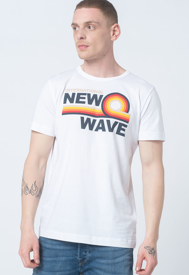 Tricou de bumbac organic Havalon imagine fashiondays.ro 2021