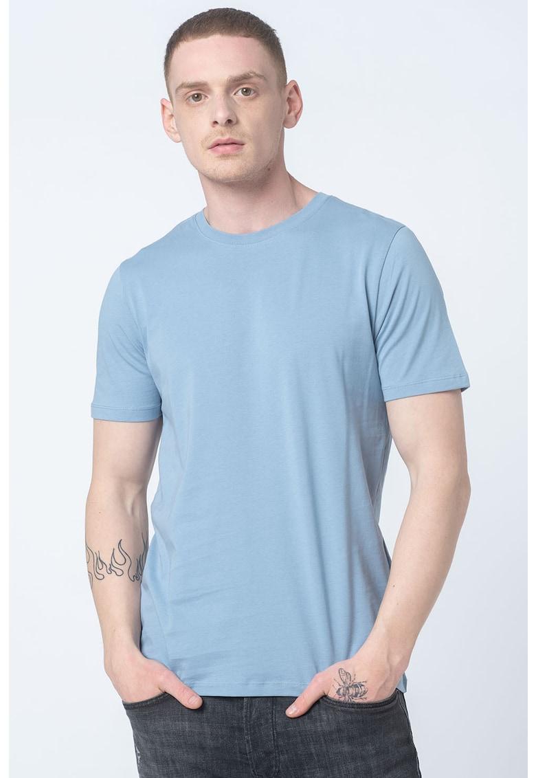 Set de tricouri din bumbac organic cu decolteu la baza gatului - 5 piese imagine fashiondays.ro 2021