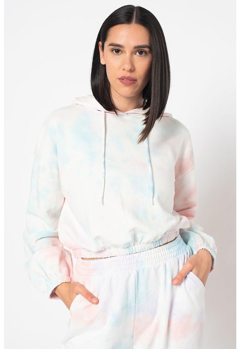 Hanorac cu snur de ajustare si aspect tie-dye Hella imagine fashiondays.ro 2021