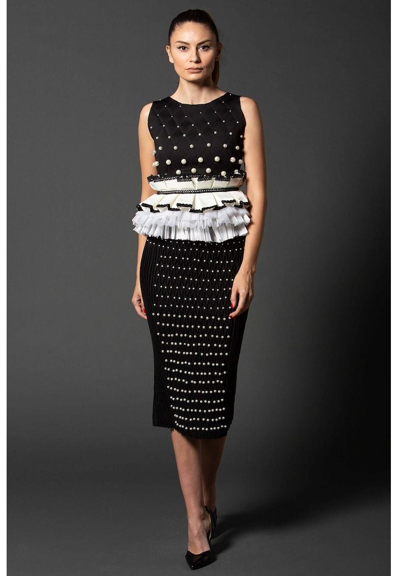 Top matlasat cu margele Amna imagine fashiondays.ro IE clothing