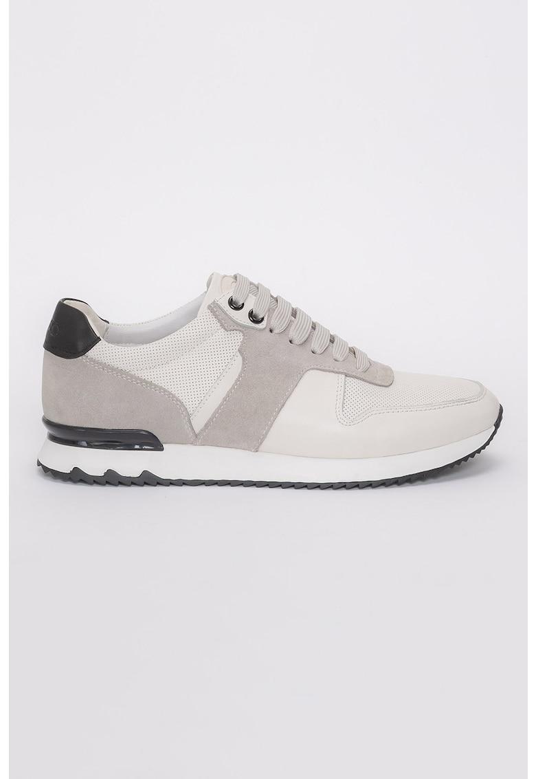 Pantofi sport de piele si piele intoarsa Clark imagine fashiondays.ro 2021