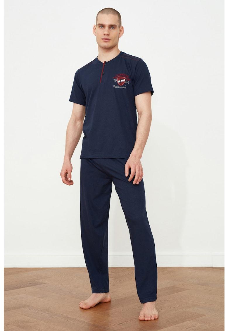Pijama din amestec de bumbac imagine fashiondays.ro 2021