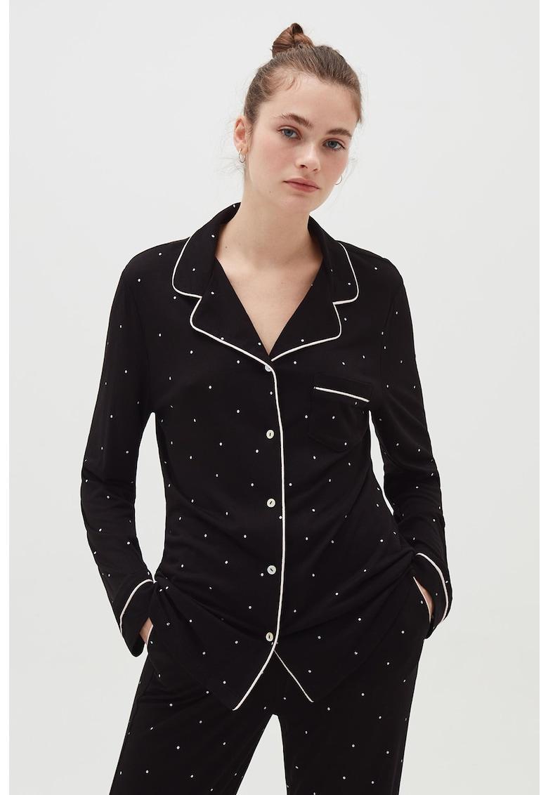 Bluza de pijama cu imprimeu cu buline fashiondays.ro