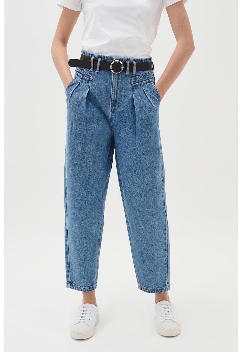 Blugi mom fit cu talie inalta imagine fashiondays.ro 2021