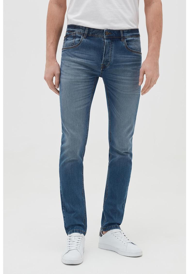 Blugi skinny cu aspect decolorat imagine fashiondays.ro 2021