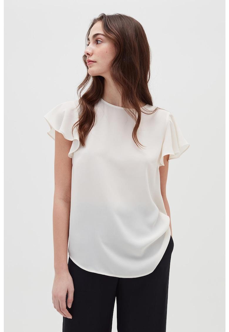 Bluza vaporoasa cu maneci cu volane imagine fashiondays.ro 2021