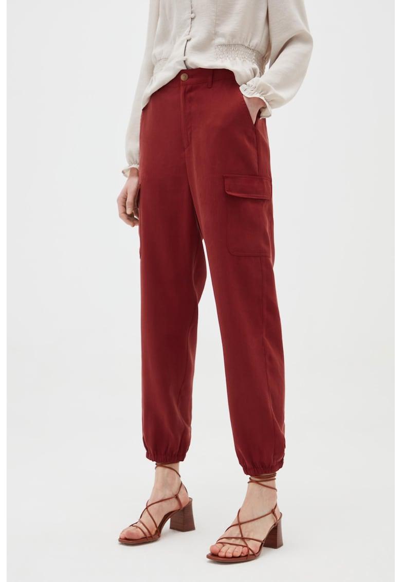 Pantaloni cargo cu talie elastica imagine fashiondays.ro
