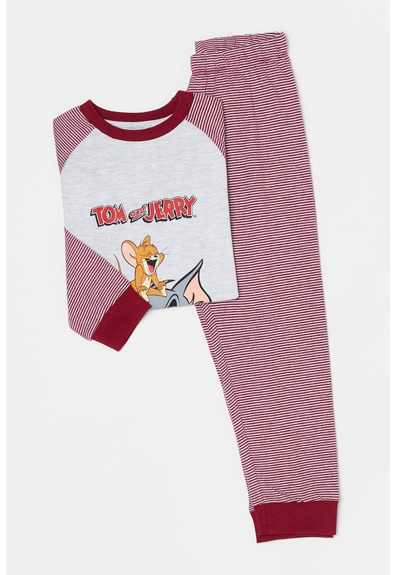 Pijama cu imprimeu Tom&Jerry de la OVS