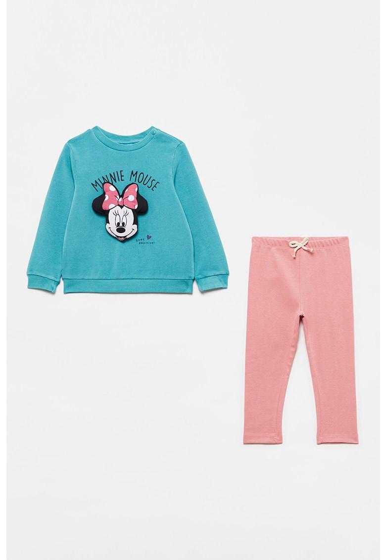 Set de pantaloni si bluza cu imprimeu cu Minnie Mouse imagine fashiondays.ro
