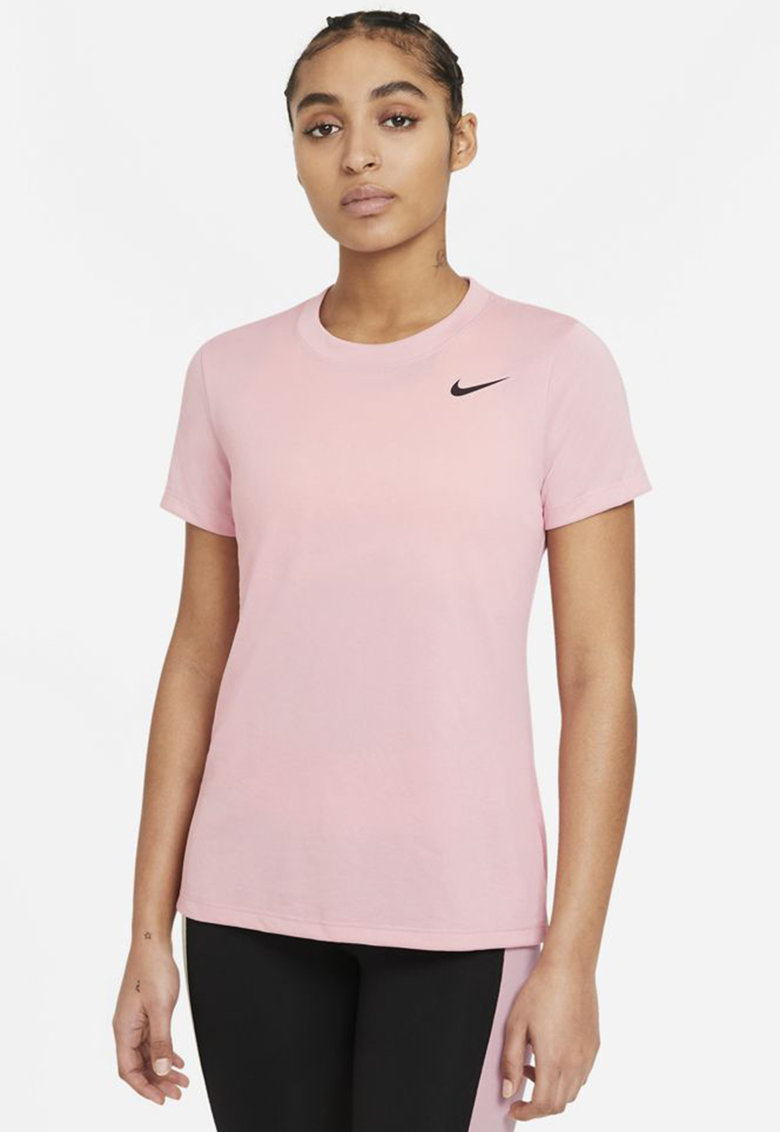 Tricou cu tehnologie Dri-Fit si logo pentru fitness imagine fashiondays.ro Nike