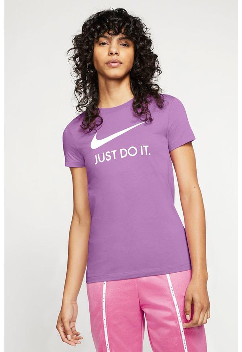 Tricou slim fit cu imprimeu logo imagine fashiondays.ro Nike