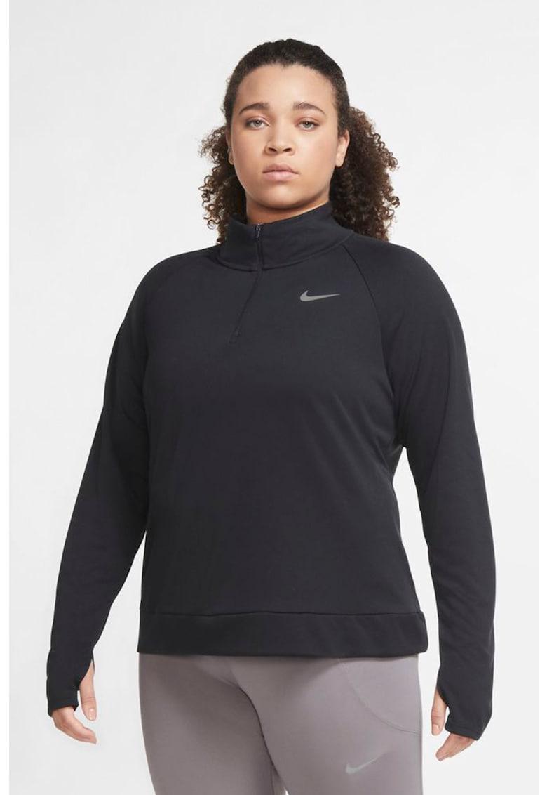 Bluza cu tehnologie Dri-Fit si fenta cu fermoar pentru alergare Pacer imagine fashiondays.ro Nike