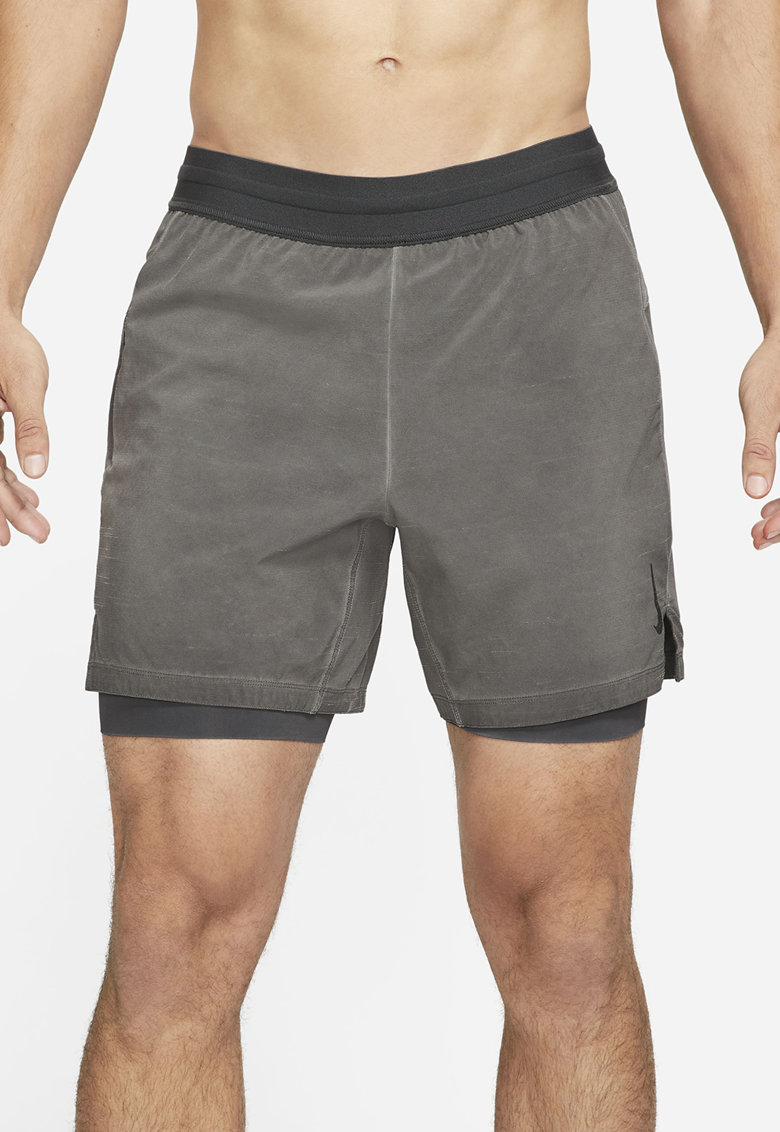 Pantaloni scurti cu tehnologie Dri-FIt ssi model 2in1 - pentru fitness Yoga