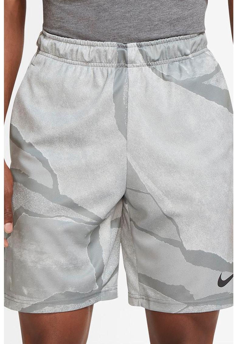 Pantaloni scurti cu imprimeu pentru antrenament Dry imagine fashiondays.ro 2021