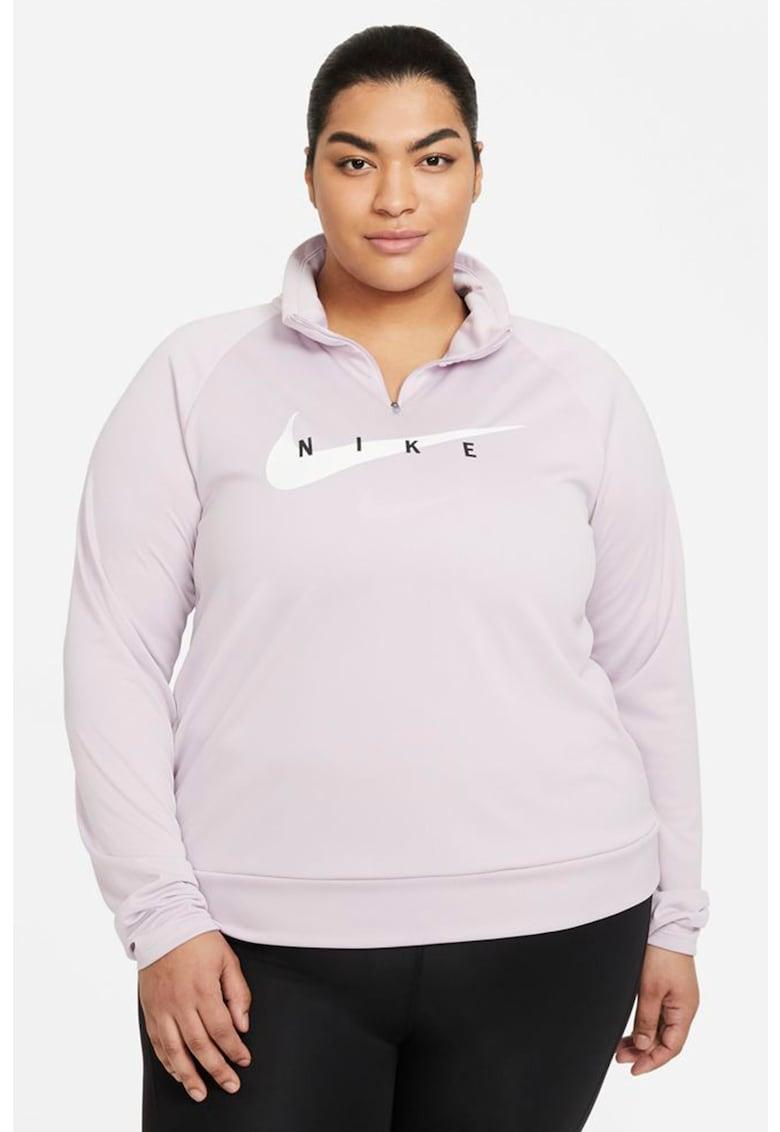 Bluza cu maneci raglan - pentru alergare Swoosh imagine fashiondays.ro Nike