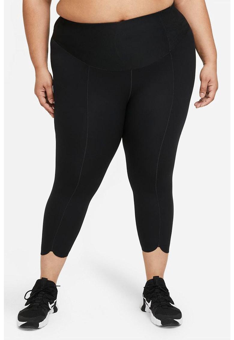 Colanti crop cu tehnologie Dri-Fit pentru fitness One Luxe imagine fashiondays.ro Nike