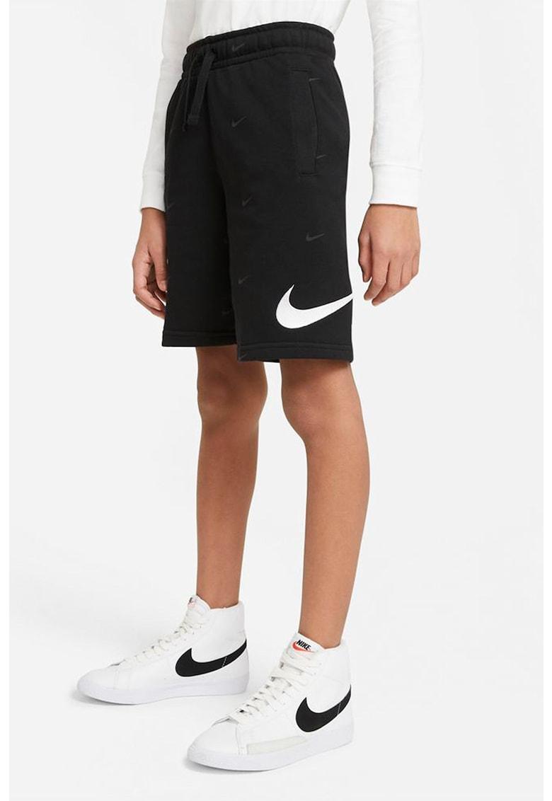 Bermude cu snur de ajustare si logo Swoosh imagine fashiondays.ro Nike