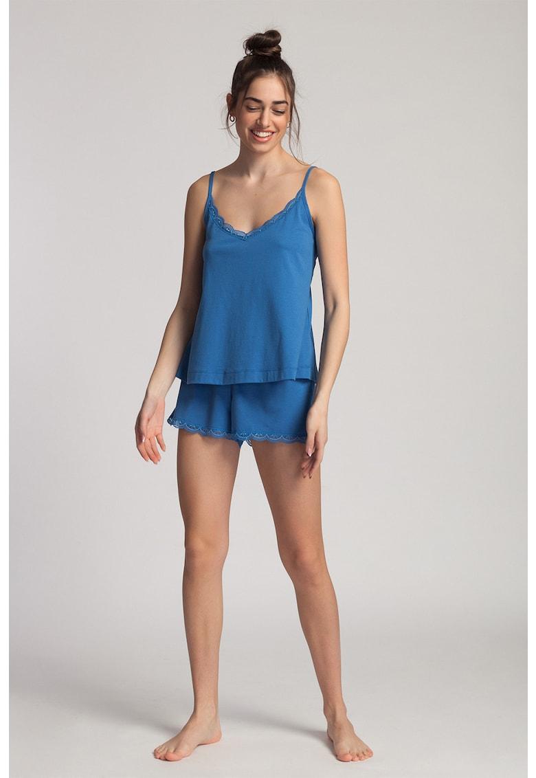 Pijama din amestec de modal - cu pantaloni scurti Danielle imagine fashiondays.ro 2021