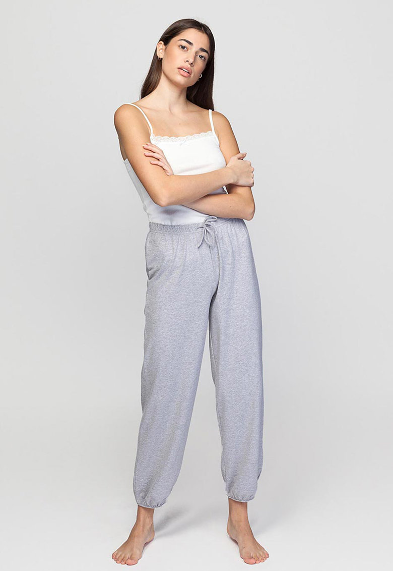 Pantaloni de pijama din amestec de bumbac Soft Touch imagine fashiondays.ro 2021