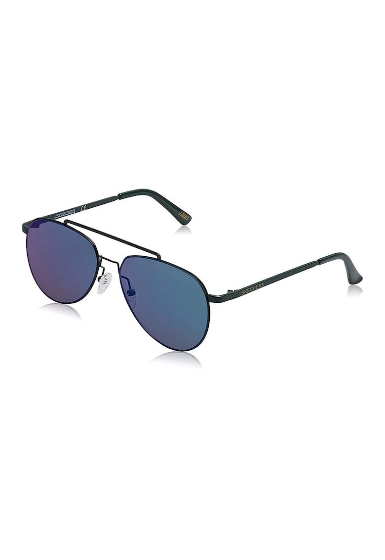 Ochelari de soare aviator unisex cu lentile oglinda imagine fashiondays.ro Skechers